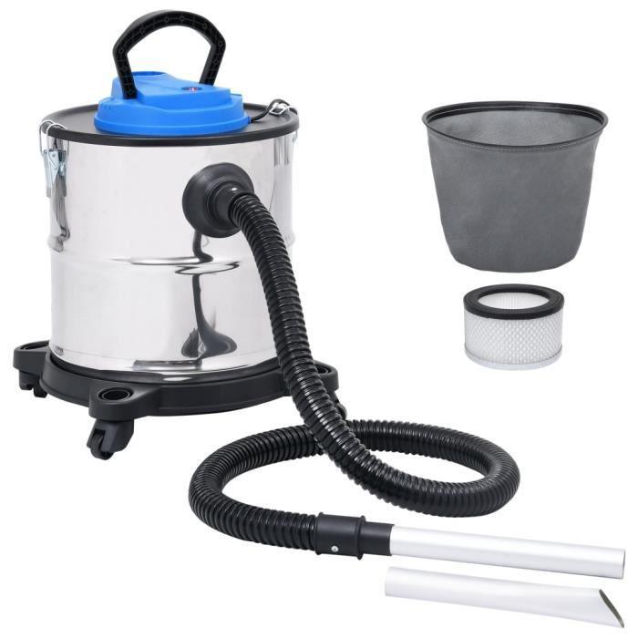 XIX Aspirateur à cendres et filtre HEPA 1200W 20 L Acier inoxydable