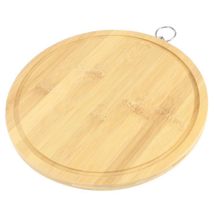 Atyhao Planche à découper en bambou Planche à Découper Ronde en Bambou Planche à Découper de Légumes de Pâte pour Cuisine du