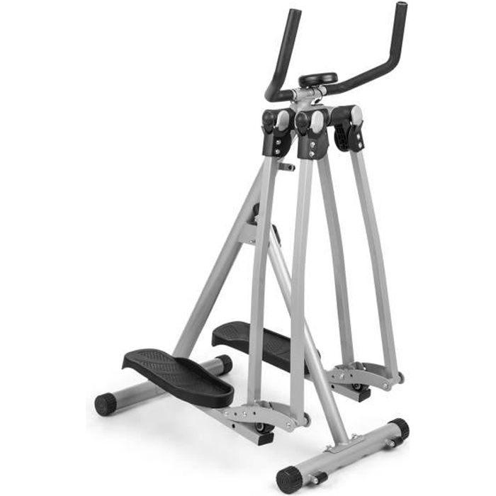 capital sports Crosswalker Air-Walker vélo elliptique écran LCD 100 kg - Gris