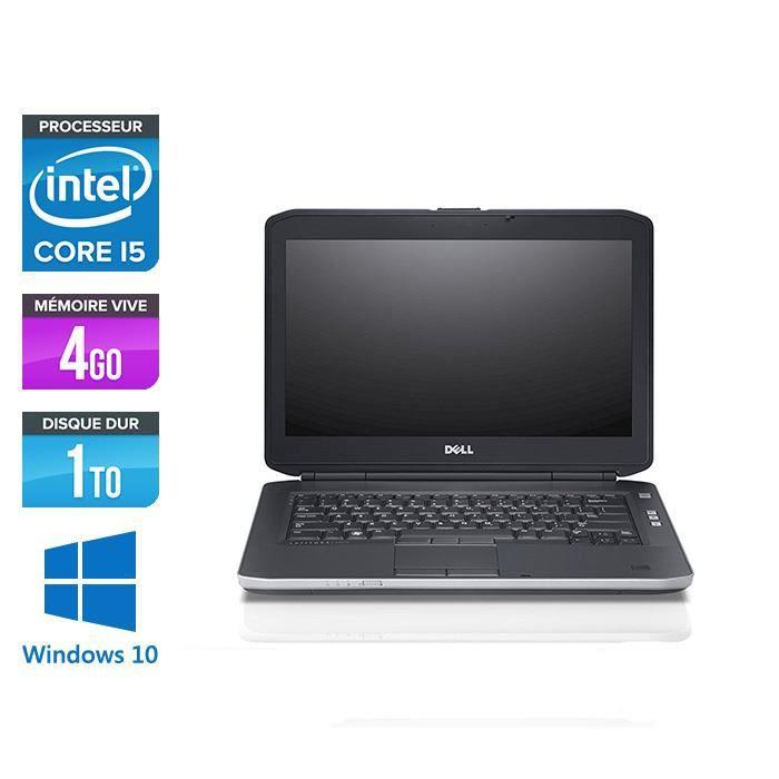 Pc portable Dell E5430 - i5 - 4Go - 1 To HDD - Windows 10 pro