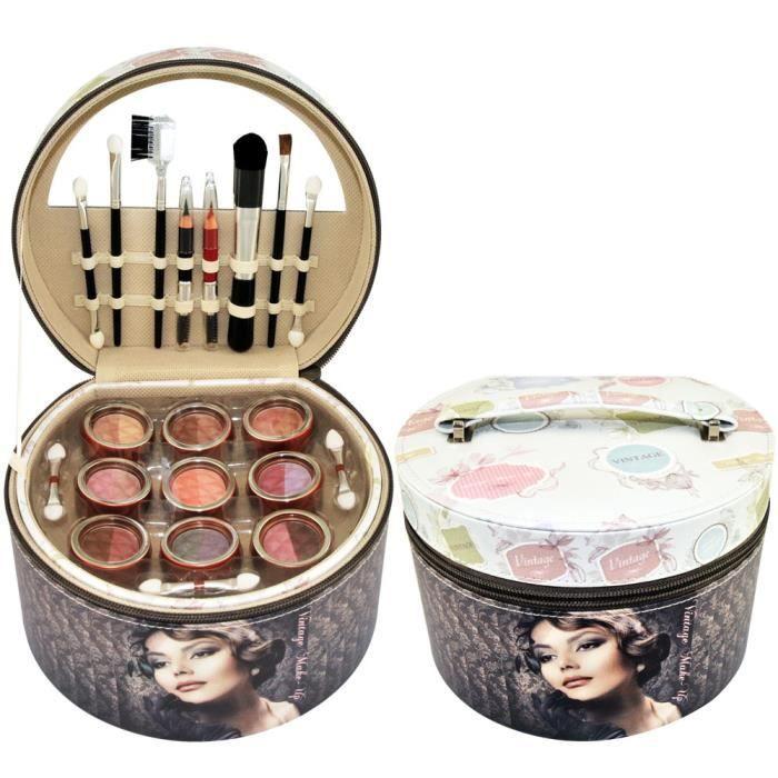 Coffret cadeau coffret maquillage mallette de maquillage retro - 36pcs