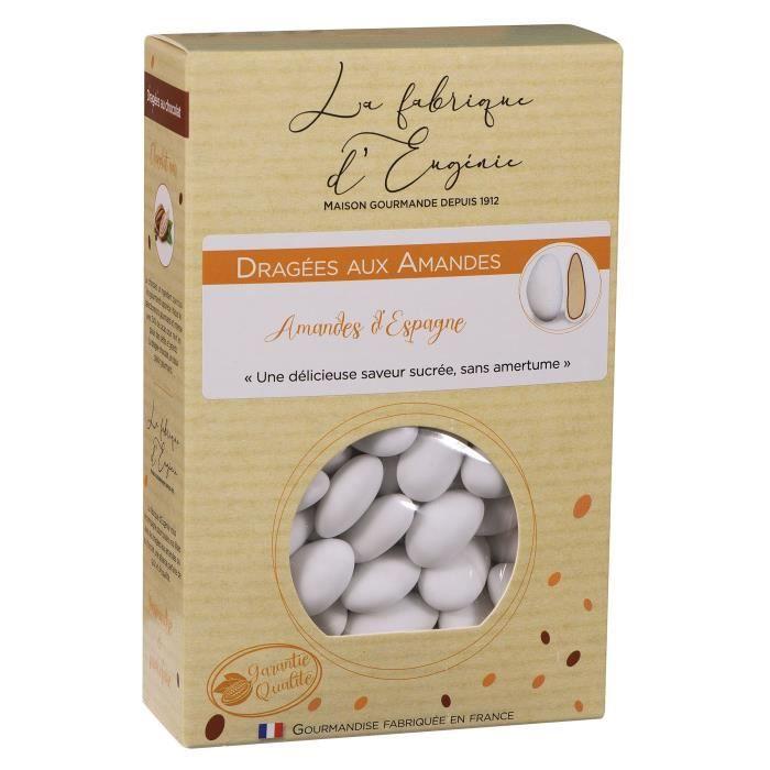 LA FABRIQUE D'EUGENIE Dragées aux Amandes - Blanc - 500 g
