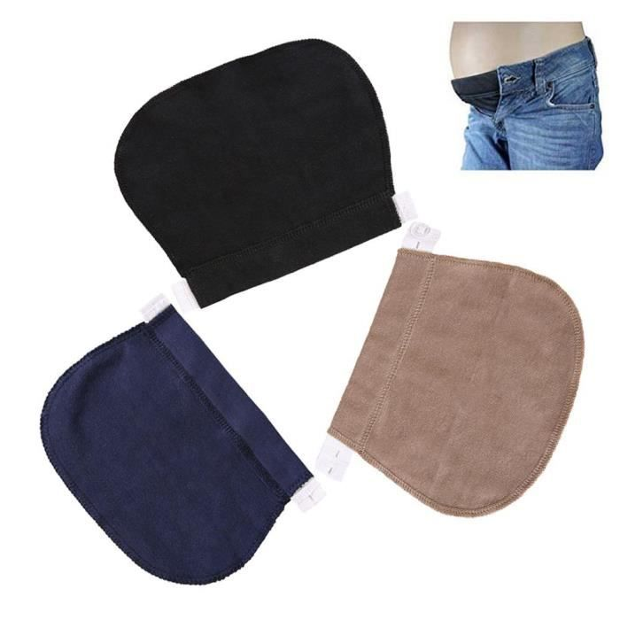 MOGOI 3Pcs Ceintures Grossesse Élastique Ajustable Bandeau De Femmes Enceintes pantalon et jupe
