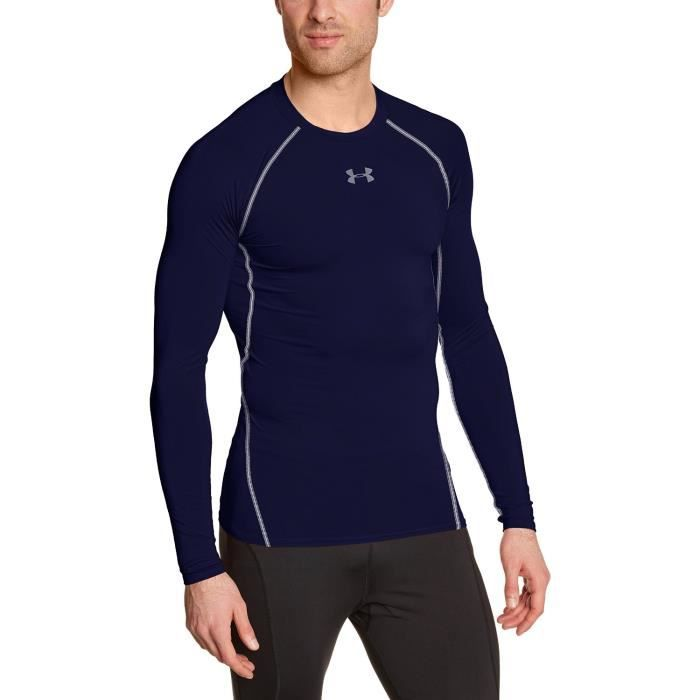 Under Armour Hg T-Shirt manches longues de compression Homme Midnight Navy/Steel
