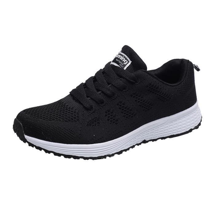 chaussures de sport Hommes Mode Mesh Cross Cross Straps Flat Sneakers Chaussures de course