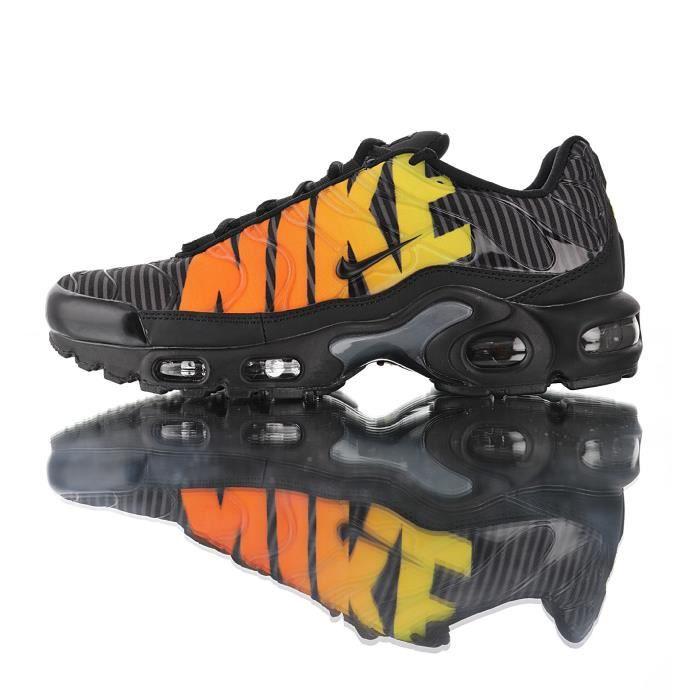 Basket Nike TN Air Max Plus -Striped Black Orange- Homme Running Chaussures