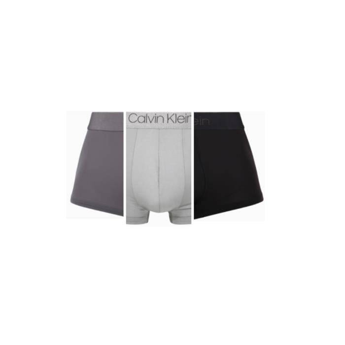 Calvin Klein CK Shorts en fibre ultra fine modale respirable pour hommes3 Boxers Noir-Blanc-Gris