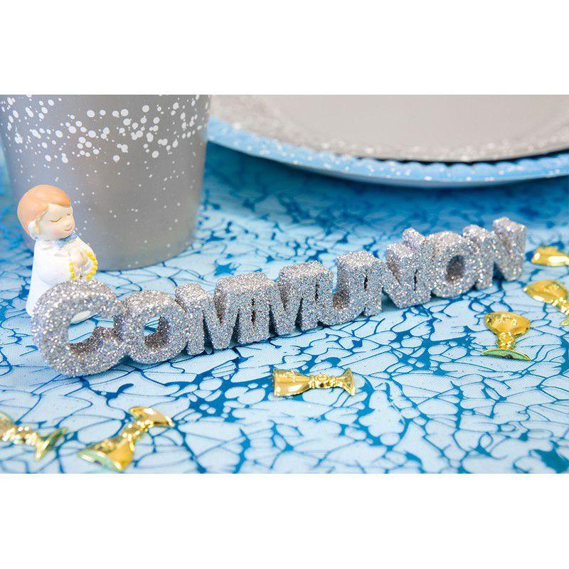 DÉCO DE TABLE COMMUNION 15.5CM ARGENT