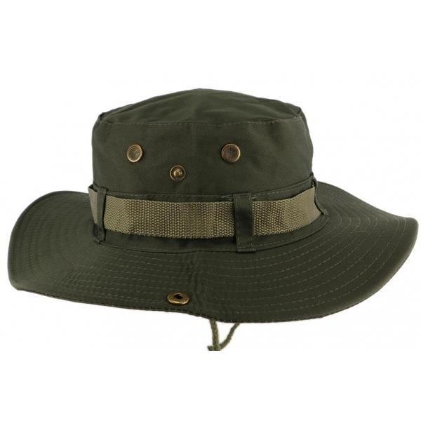Chapeau Bob safari Vert Armee Azzy - Vert - Taille unique