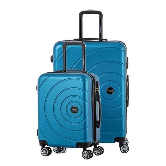 TRAVEL WORLD Ensemble de 2 valises 55/75cm Turquoise