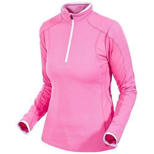 Trespass Ollog Haut de sport Femme Rose Haute Visibilité FR : XL Taille Fabricant : XL - FATOLSL10003 XL-XL-Hi Visibility Pink