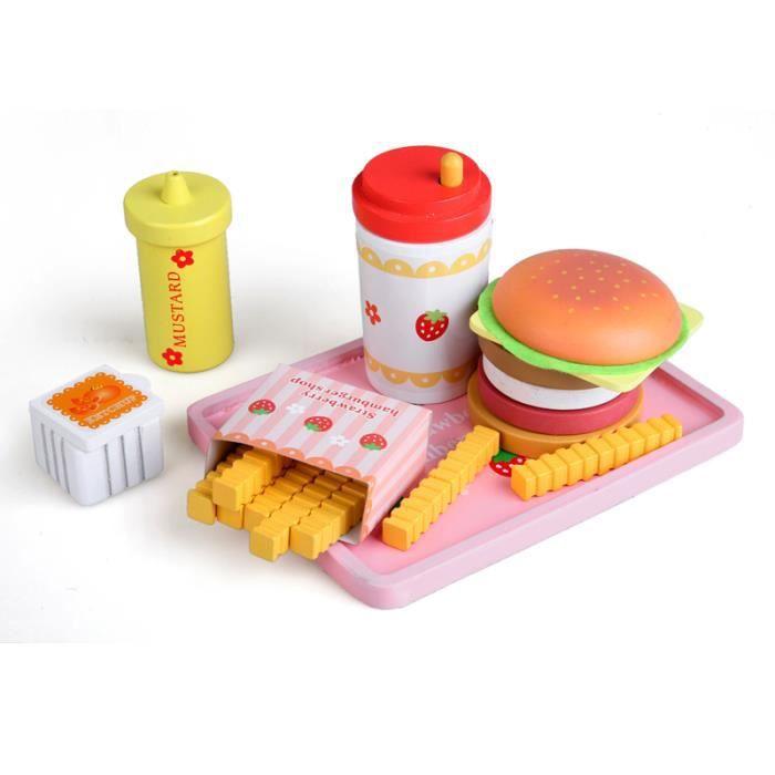 Enfants Cuisine Plastique Empilables Hamburger Équilibre Jouets D/'imitation