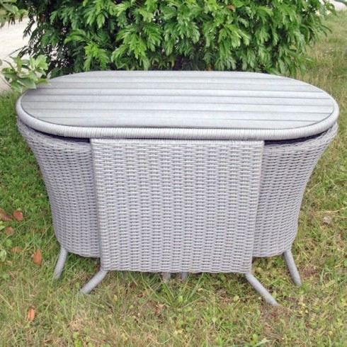 Salon 2 places encastrable plateau composite gris achat vente salon de ja - Salon jardin 2 places ...