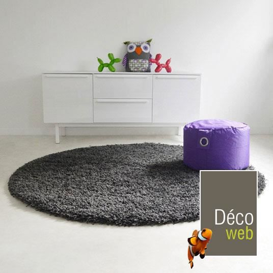 tapis rond shaggy achat vente tapis rond shaggy pas cher cdiscount. Black Bedroom Furniture Sets. Home Design Ideas