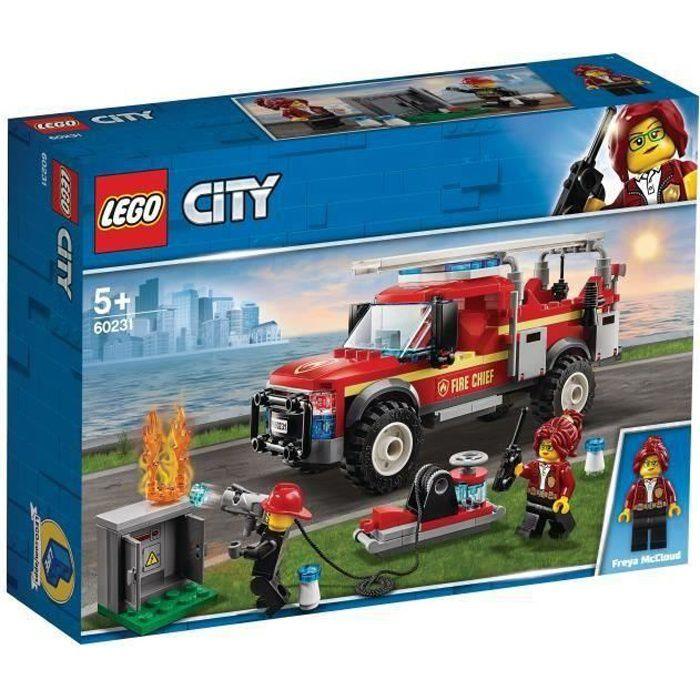ASSEMBLAGE CONSTRUCTION LEGO® City 60231 Le camion du chef des pompiers ,J