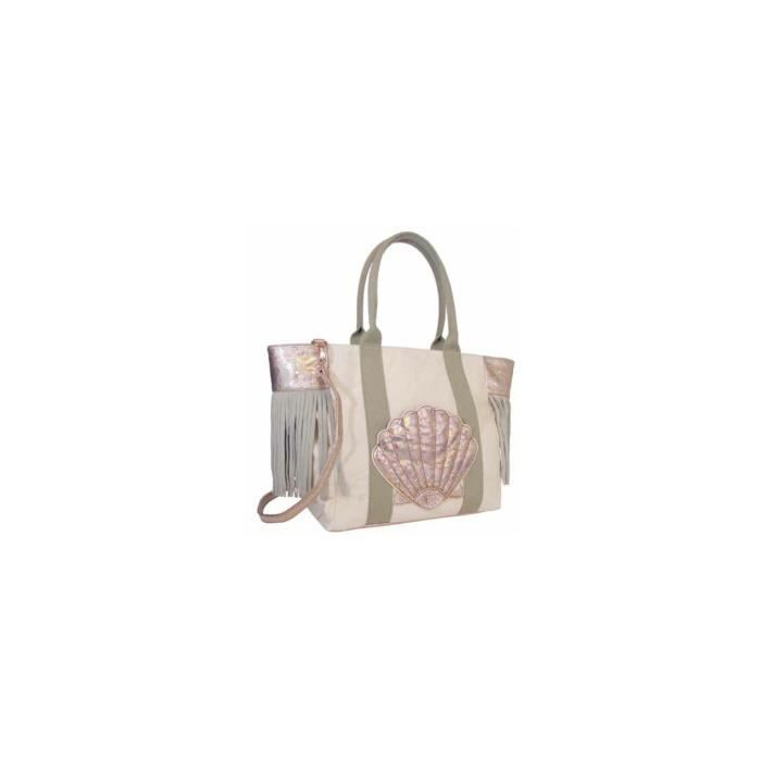 Sac Cabas Lollipops ZAILE SHOPPER Nude Toile et CuirIncolore