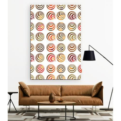 D co murale design xxl grand format spirales halo red kaki for Decoration murale one piece