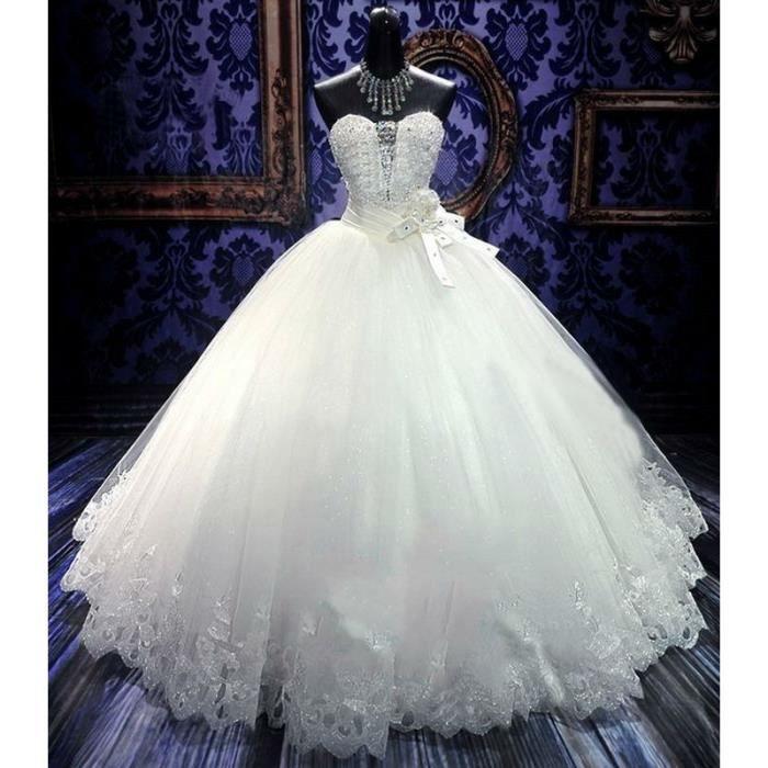 Robe de mariée Princesse Belle Perles Plus