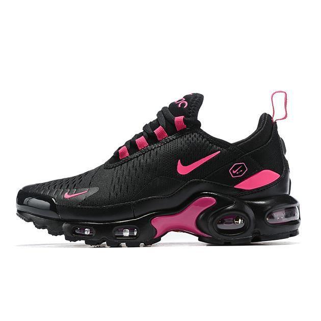 Baskets Nike Max TN Plus Noir Rose Femme Running Chaussures