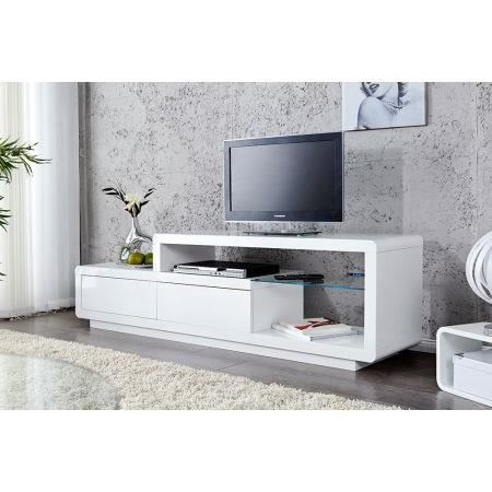Meuble tv design alice ii laqu blanc led 180 cm achat for Photo meuble tv design