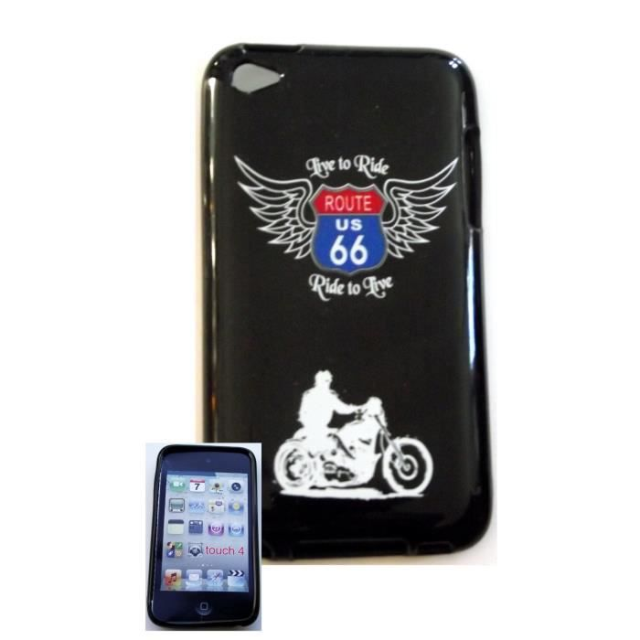 Housse gel route 66 pour ipod touch 4 achat vente for Housse ipod touch