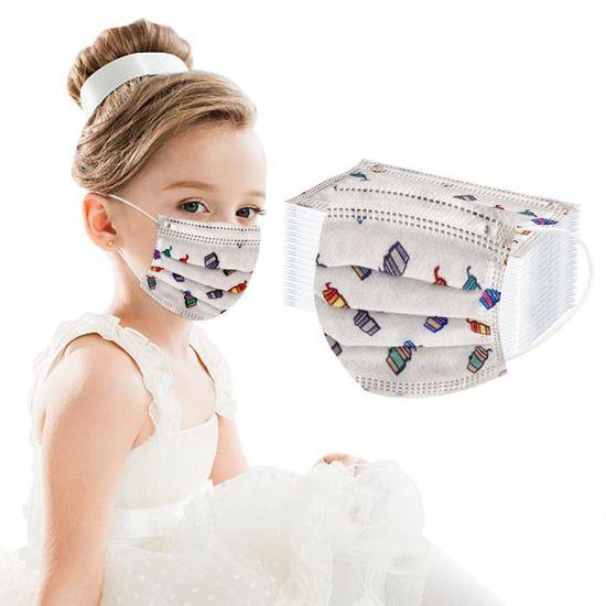 3D Imprim/é Couvre Visage Tissu Lavable avec 5PC Housse de Protection Bouche Nez Homme Femme Enfant Oreille R/églable Outdoor Anti Pollution Poussi/ère