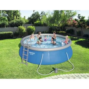 BESTWAY Kit Piscine ronde Fast Set Pools - 4,57x1,22m