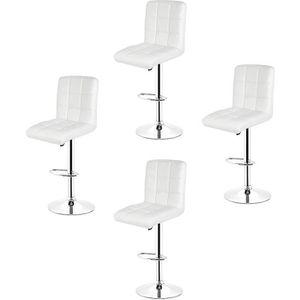TABOURET DE BAR 4 x Tabourets de bar - Chaise de bar PU - Hauteur