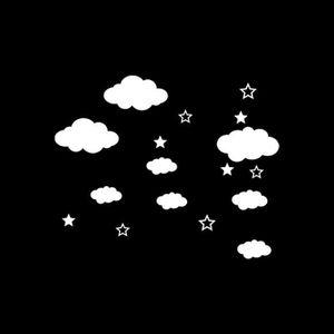 OBJET DÉCORATION MURALE Petits nuages et Étoiles Chambre d'enfant Décor Au