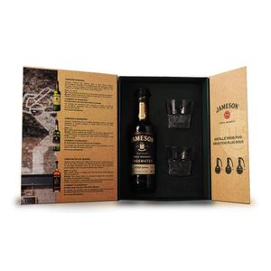 WHISKY BOURBON SCOTCH Jameson Caskmates - Coffret Dégustation 2 verres -