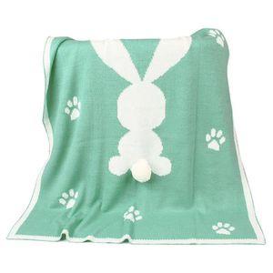 COUVERTURE - PLAID BÉBÉ Nouveau-né bébé enfants lapin tricot couverture li