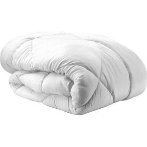 COUETTE Couette blanche microfibre 220x240 cm - Anti-acari