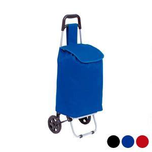 CHARIOT DE MARCHÉ Chariot Courses Pliable 3 roues Haute qualité Bleu