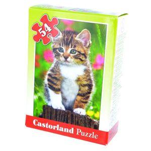 PUZZLE Puzzle 54 pièces : Mini puzzle : Chaton sur une...