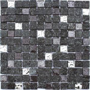 CARRELAGE - PAREMENT Mosaïque en pate de verre et carrelage  30 x 30 cm
