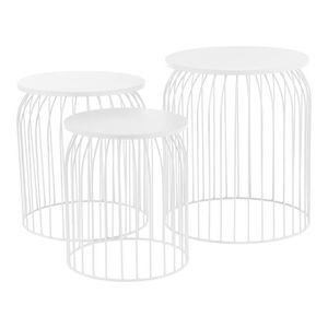 TABLE BASSE [en.casa] Panier métallique en kit de 3 - Design t