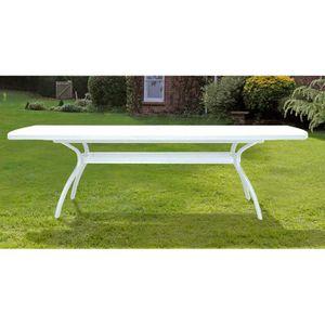 Table extensible blanche 210 / 265 x 108 cm - Achat / Vente ...