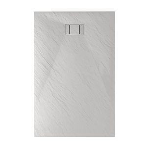 RECEVEUR DE DOUCHE Bac à douche 80x160x2,6 CM Rectangulaire Blanc Eff