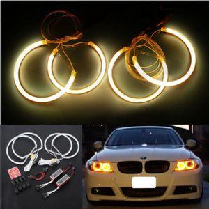 PHARES - OPTIQUES NEUFU 4 x LED Lumières yeux d'ange Rond pr BMW E46
