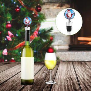 Amosfun 3 pi/èces Bonnet de Noel Bouteille de vin de Noel Couvrir Noel Bouchon de Bouteille de vin pour Decorations de Noel