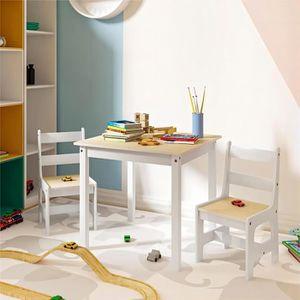 TABLE ET CHAISE WOLTU Ensemble table et chaises en MDF pour enfant