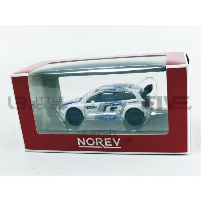 Voiture Miniature de Collection - NOREV 1/64 - VOLKSWAGEN Polo R WRC - White / Blue - 319111_POLOWRC