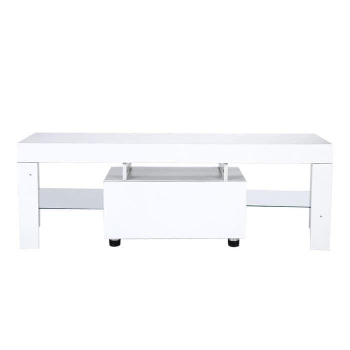 Meuble de télévision moderne MDF Blanc du meuble-CHE