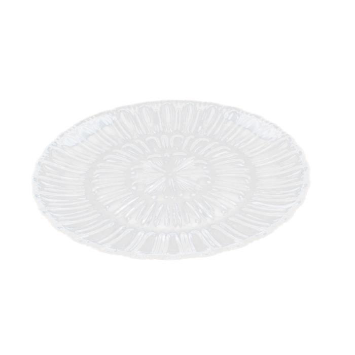 Plat de service Dessert de fruits Plateau de service en acrylique transparent 35x35cm