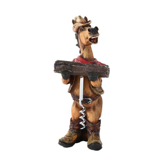 1 tire-bouchon décoratif durable cheval Western Cowboy ouvre-bouteille décapsuleur pour fête CORKSCREW - CAPSULEER - LIMONADIER