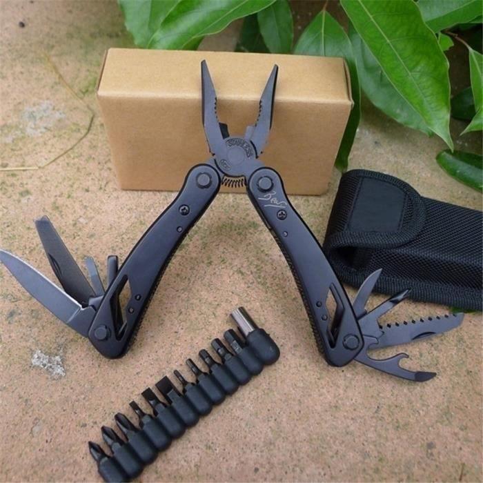 Pince Multifonction Multi-outils Pince 24 en 1 Outil Multifonctions de Poche en Acier Inoxydable Couteau Suisse Militaire