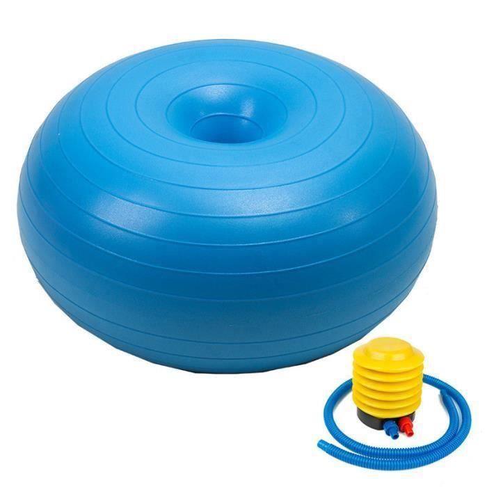 Ballon Suisse Fitness Gym Yoga Epais Couleur Unie Donut Bleu LBQ8
