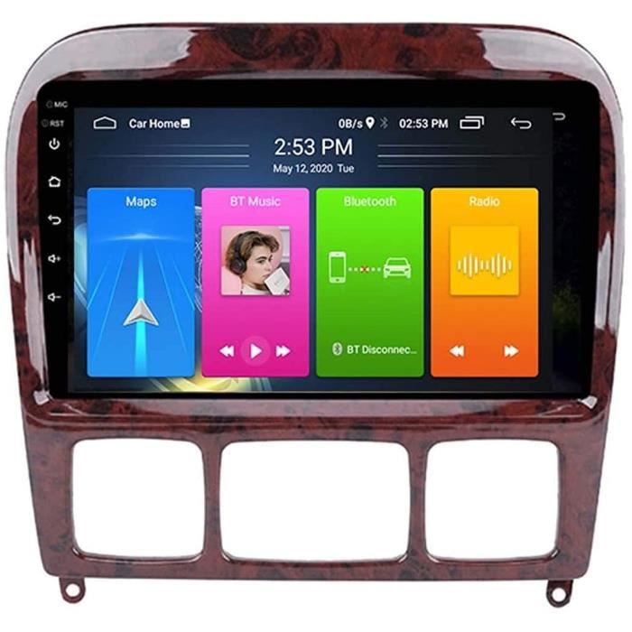 Autoradio Android pour Benz Classe S W220 S280 S320 AMG 1998-2005 Stéréo de voiture Navigation GPS Écran tactile Lecteur multim 470