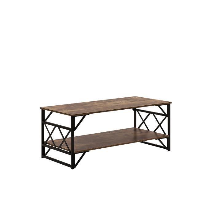 Beliani - Table basse imitation bois foncé BOLTON