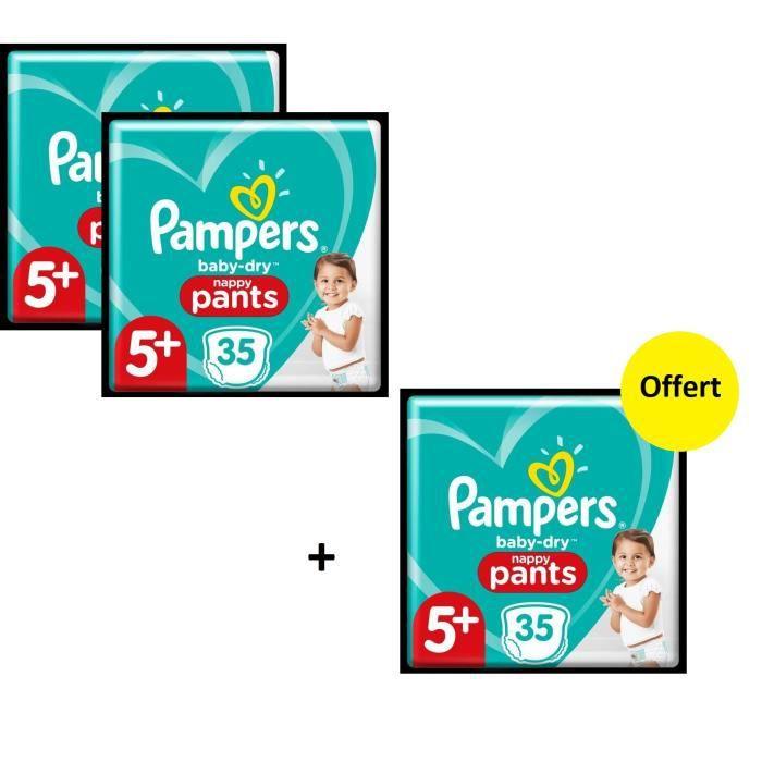 Pampers Baby Dry Pants Geant T5+ X105 - Lot de 3